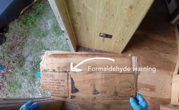 Formaldehyde Warning image