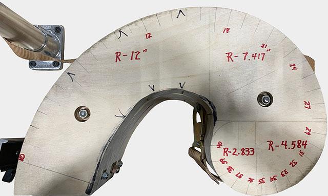 Golden Arc Ratio Flex Test Apparatus